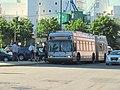 MBTA route SL2 bus at Black Falcon corner stop, June 2017.JPG