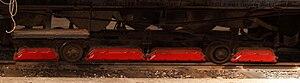 Bernina Railway Ge 6/6 81 - The brake frame with the electromagnetic brakes