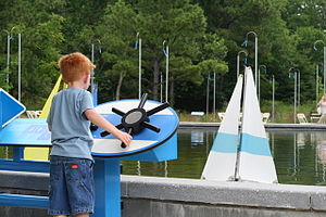 Museum of Life and Science - Sailboat pond