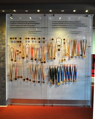 Olympic medal - A collection of medals won by Polish athletes, at the Museum of Sport and Tourism in Warsaw