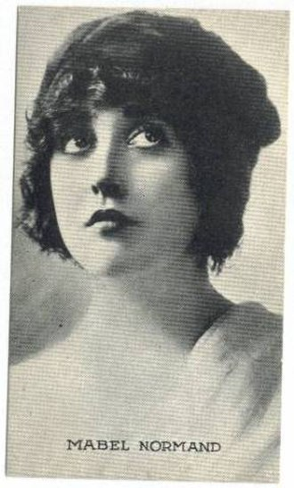 Mabel Normand - 1917 trading card
