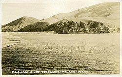 A photo of Mackay Reservoir taken circa 1920