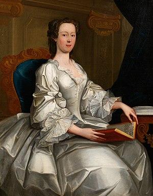 Bridget Bevan - Portrait of Madam Bevan by John Lewis, 1745 (oils) from original in the Carmarthenshire County Museum