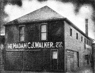 Madam C. J. Walker - C. J. Walker Manufacturing Company, Indianapolis, 1911