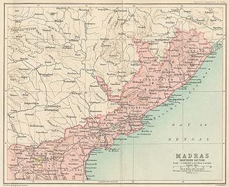 Northern Circars - The Northern Circars in 1909