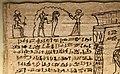 Maec, sezione egizia, libro dei morti di peteminis, II secolo dc. 02 riti di purificazione della mummia.jpg