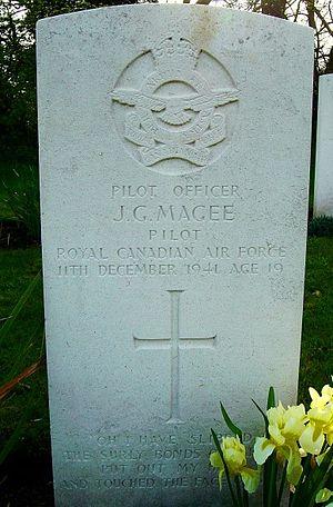 Scopwick - Grave of John Gillespie Magee