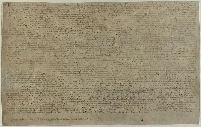 File Magna Carta  1215    BL Cotton MS Augustus II 106jpg   Wikimedia bIkWLH0S