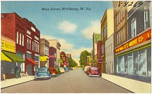 Wellsburg, West Virginia - Image: Main Street, Wellsburg, W. Va (84269)