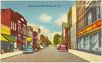 Wellsburg, West Virginia - Image: Main Street, Wellsburg, W. Va (84269)