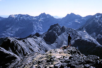 Gabbro - A gabbro landscape on the main ridge of the Cuillin, Isle of Skye, Scotland.