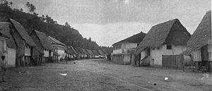 Hagåtña - Main street of Agana, around 1899-1900.