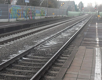 Suicide methods - Lime on rails after a suicide in Mainz-Laubenheim