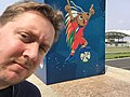 Malabo 2015-02 Me and the Equatorial Guinea mascot (16331599238).jpg