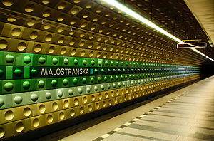 Prague Metro - Malostranská station on line A