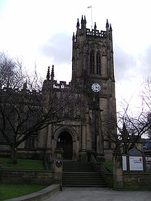 Manchester Cathedral Front Entrance.JPG