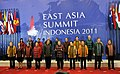 Manmohan Singh in a group photograph with the East Asia Summit Heads of States, in a Gala Dinner hosted by the President of Republic of Indonesia, Dr. H. Susilo Bambang Yudhoyono.jpg