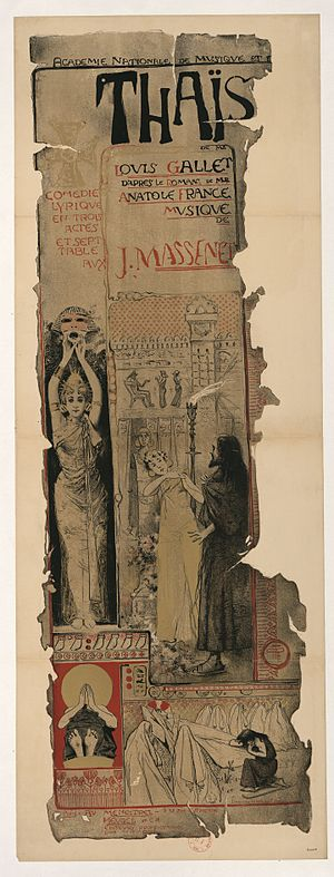 Thaïs (opera) - Original poster, design by Manuel Orazi