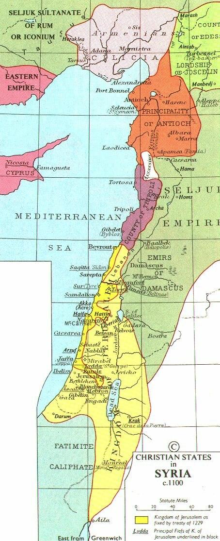 Map Crusader states ca. 1100