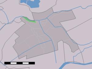 Beneden-Haastrecht - Image: Map NL Vlist Beneden Haastrecht