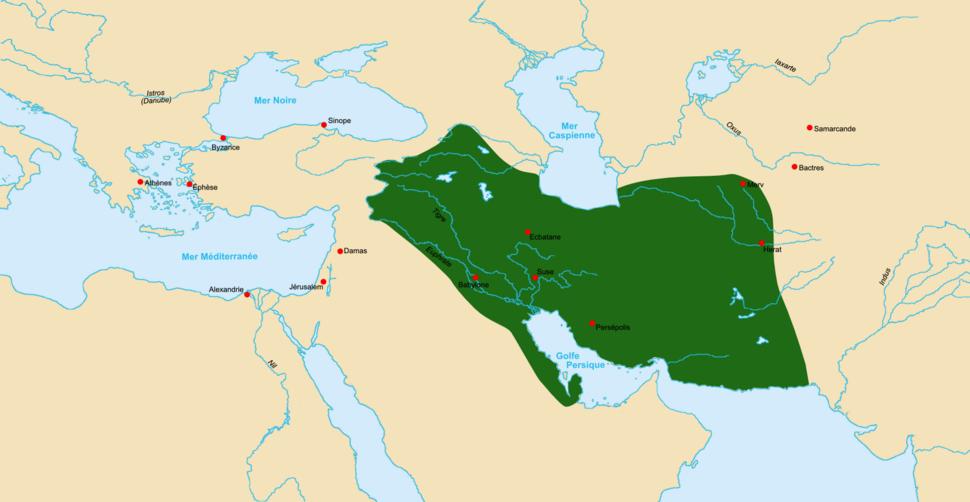 Carte de l'Empire parthe en 60 av. J.-C.