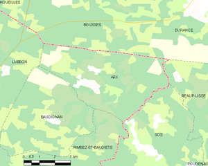 Map commune FR insee code 40015.png