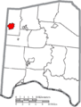 Map of Adams County Ohio Highlighting Winchester Village.png