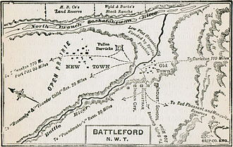 Looting of Battleford - Map of Battleford 1885