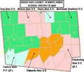Map of Bradford County Pennsylvania School Districts.png