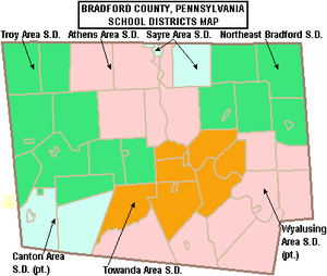Bradford County, Pennsylvania - Bradford County school districts