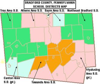Bradford County, Pennsylvania - Bradford County school districts