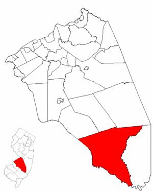 Washington Township, Burlington County, New Jersey - Image: Map of Burlington County highlighting Washington Township
