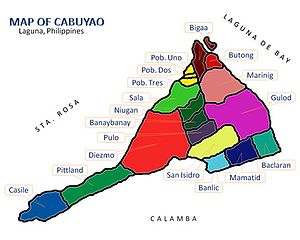 Cabuyao - Map of Cabuyao