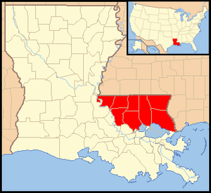 Republic of West Florida - Image: Map of Florida Parishes