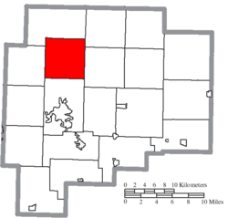 Location of Liberty Township in Guernsey County