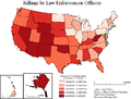 Map of Killings by Law Enforcement Officers in the United States.png