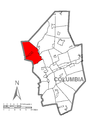 Map of Madison Township, Columbia County, Pennsylvania Highlighted.png