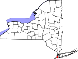 Map of New York highlighting Kings County.svg