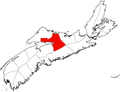 Map of Nova Scotia highlighting Colchester County.png
