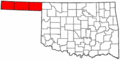 Map of Oklahoma highlighting Panhandle (small).png