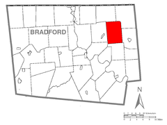 Map of Orwell Township, Bradford County, Pennsylvania Highlighted.png