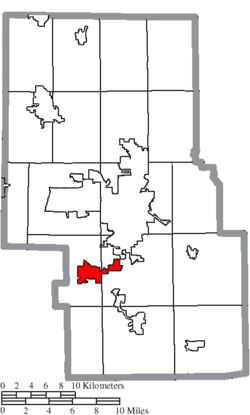 Location of Lexington in Richland County