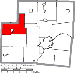 Location of McLean Township in Shelby County