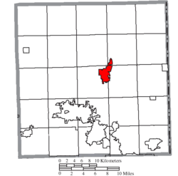 Location of Cortland in Trumbull County