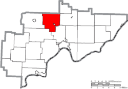 Location of Adams Township in Washington County