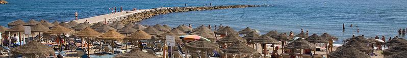The beach in Marbella in the Costa del Sol. Wikipedia.