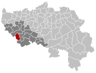 Marchin - Image: Marchin Liège Belgium Map