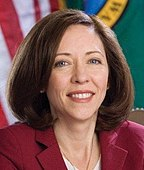 Maria Cantwell, official portrait, 110th Congress (cropped).jpg
