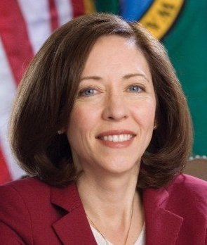 Maria Cantwell, official portrait, 110th Congress (cropped)