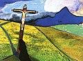 Marianne von Werefkin - Cross in a Landscape.jpg